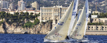 J24s sailing off Montel Carlo, Monaco- Carlo Borlenghi