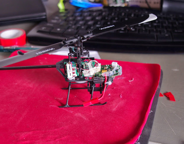 hcp100s review rc groups rc helicopter wiring cleanup and taping down of the enamel tail motor wires