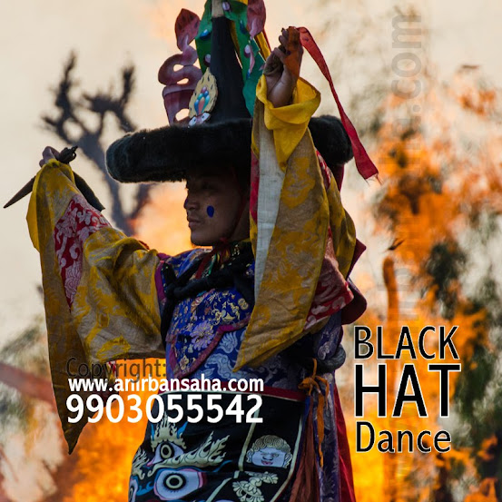 Black hat dance, black hat story, black hat dance sikkim, tibetan dances, buddhist dance