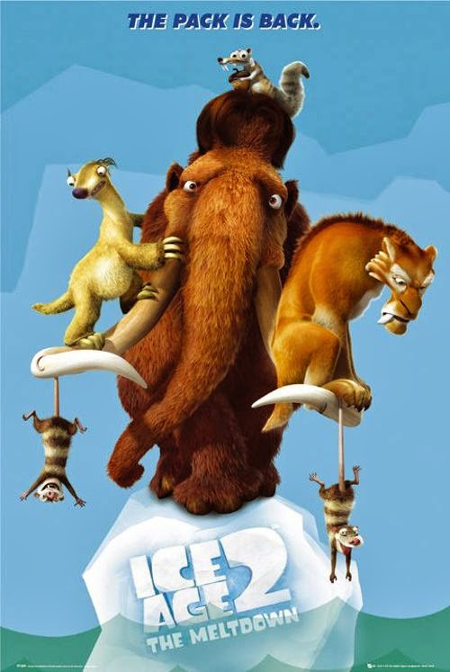 Poster Of Ice Age 2: The Meltdown (2006) Full Movie Hindi Dubbed Free Download Watch Online At Alldownloads4u.Com
