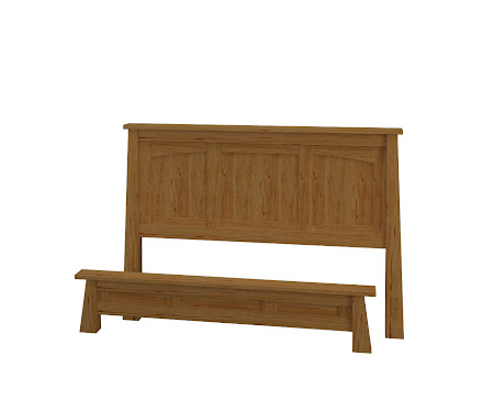 Luxor Platform Bed in Classical Maple
