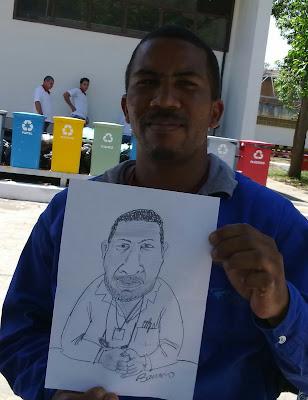 Caricatura em evento na Vale do Rio Doce - 2