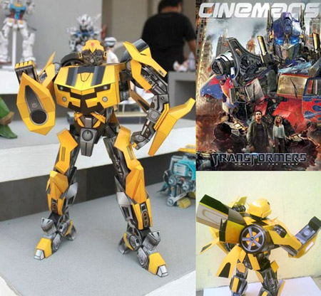 Bumblebee Paper Toy
