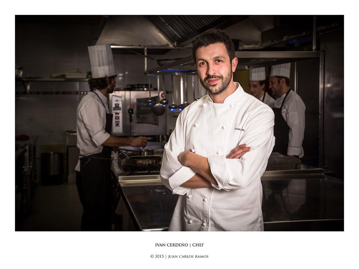 Ivan Cerdeño | Chef estrella Michelín por Juan Carlos Ramos fotografo retrato toledo