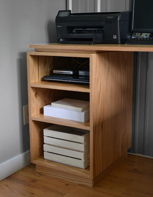 eco office open shelf base made with purebond formaldehyde free plywood ana white completed eco office desk