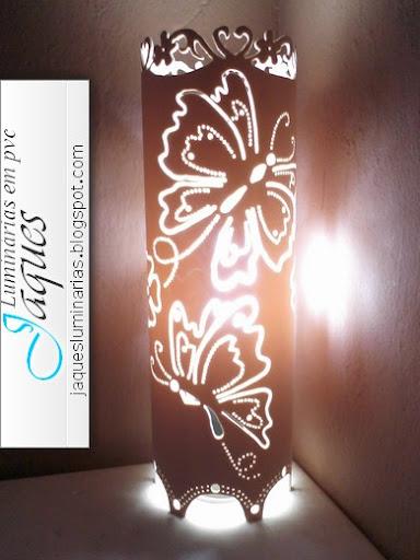 luminária- em-pvc-Borboletas