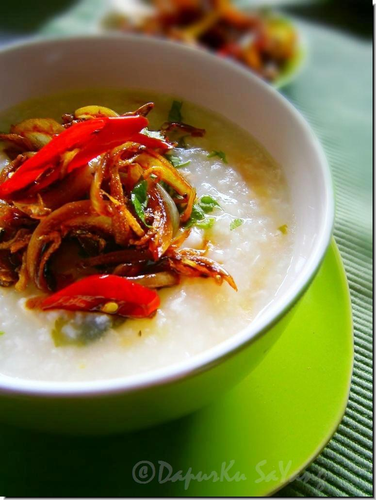 DapurKu SaYang: Bubur Nasi Ayam Vs Ikan Bilis Kicap