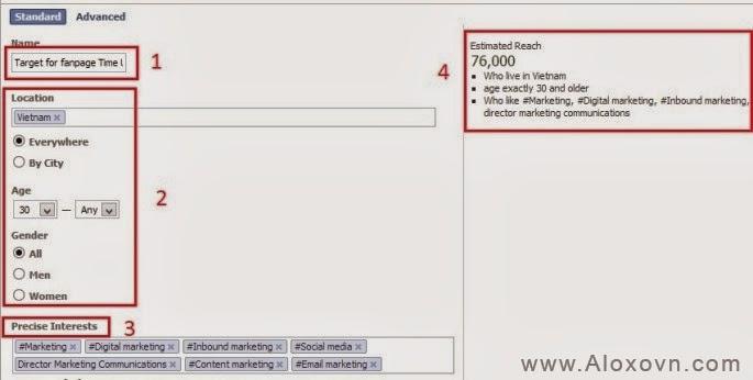 power editor: lựa chọn đối tượng khách hàng