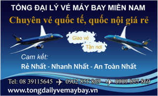 Tong dai ly ve may bay