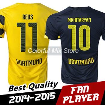 Free Shipping 2015 Borussia dortmund Soccer Jerseys REU