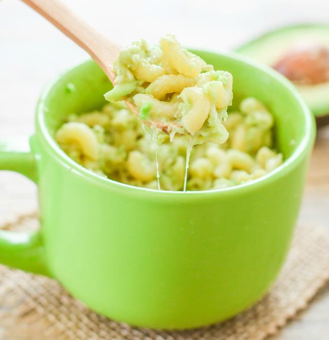 Avocado Macaroni and Cheese in a Mug