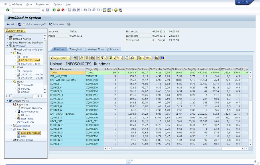 ST03 BW Performance Data