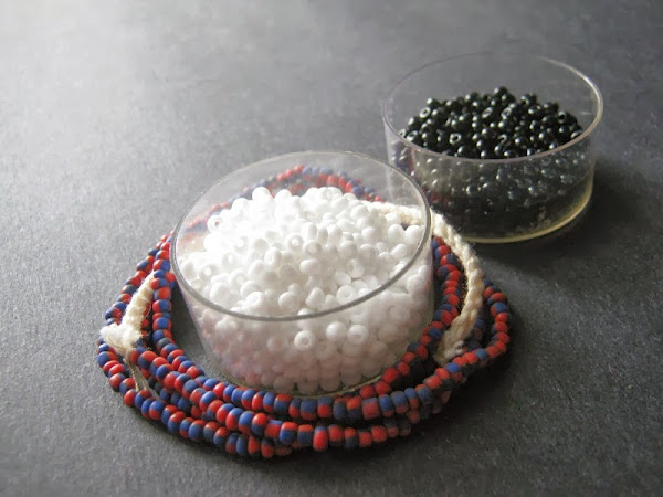 Black and White Palette with Trade Beads