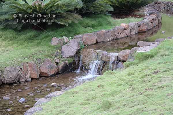 Waterstream in Okayama Friendship Garden in Pune