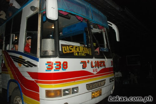 Non-airconditioned bus at Cabanatuan going to Casiguran, Aurora