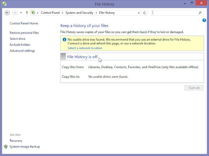 Shadow copy/Windows 8 File History