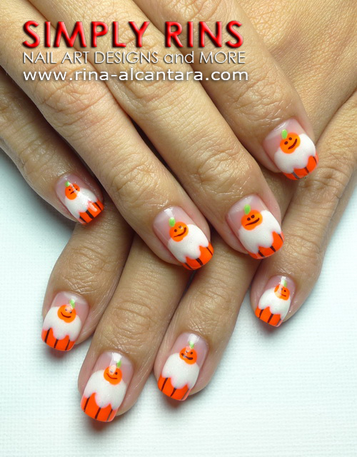 Halloween Cupcake Nail Art Design