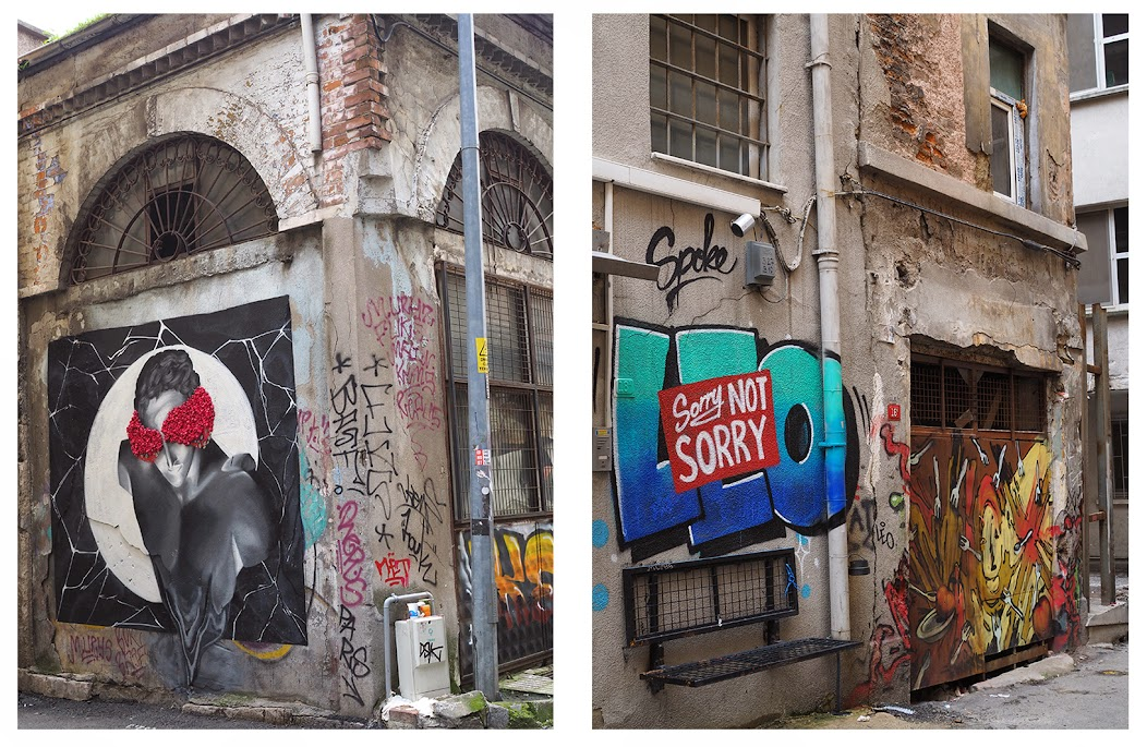 graffiti in karakoy, istanbul