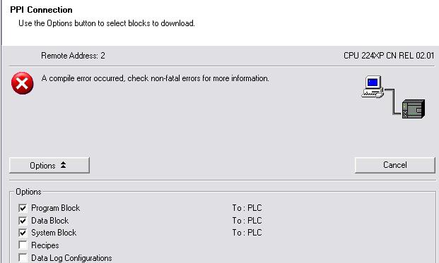 Lỗi kết nối Download PLC Siemens S7-200 CN - Unlock Crack bẻ khóa