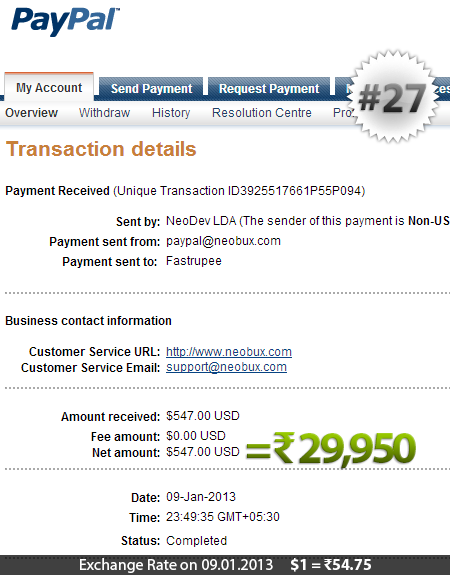 Neobux Payment Proof 27