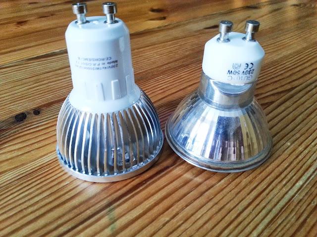 GU10 d'origine et équivalent LED