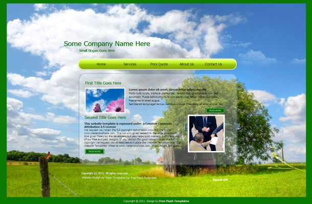Ecology Nature Blue Green Flash Theme Template