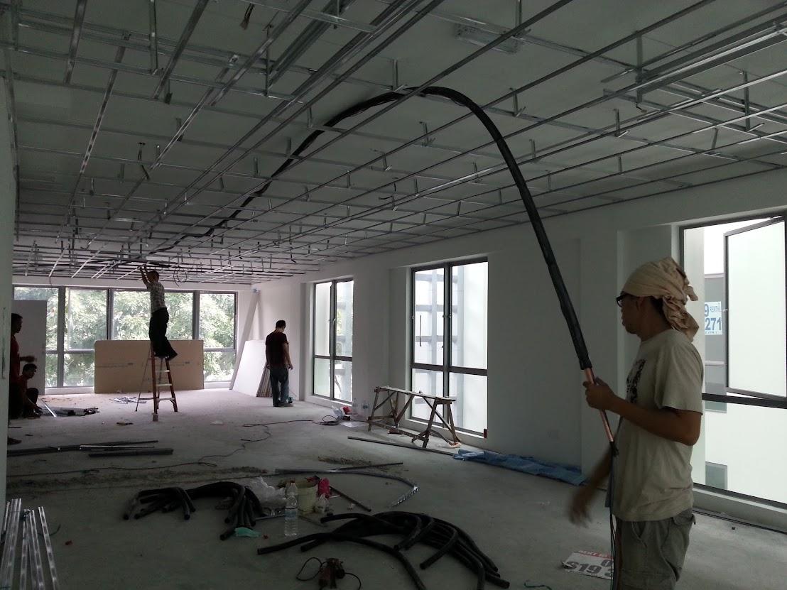 install air-cond copper pipe