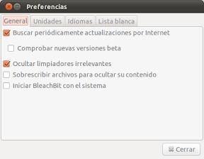 BleachBit o como limpiar tu Ubuntu, Linux Mint, etc, a lo fácil. Uso 3.
