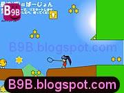 لعبة الفتاة الصيادة الصغيرة وجمع رموز الشرطة الذهبية والحذر من المخلوقات الكروية