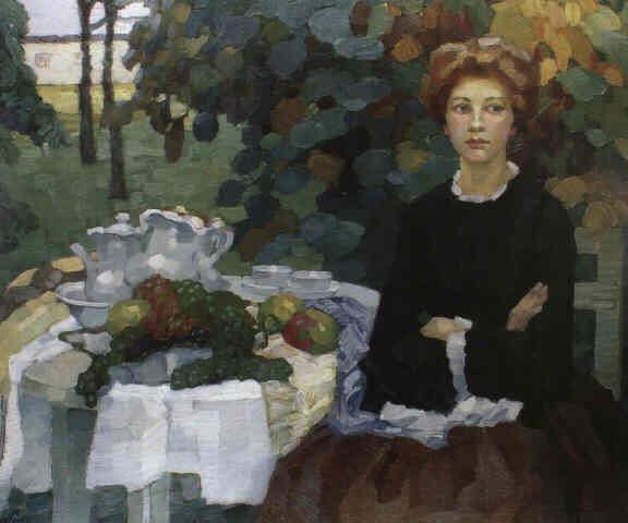 Leo Putz – Im Herbstlichen Garten