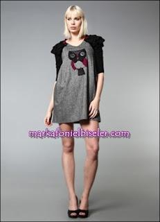 markafoni say markalı baykuşlu elbise