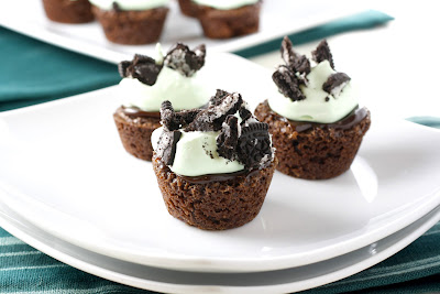Fudge Mint Brownie Cupcakes