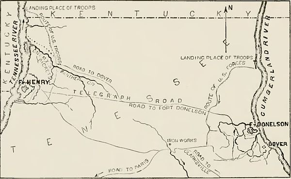 Forts Henry and Donelson as described in 1862