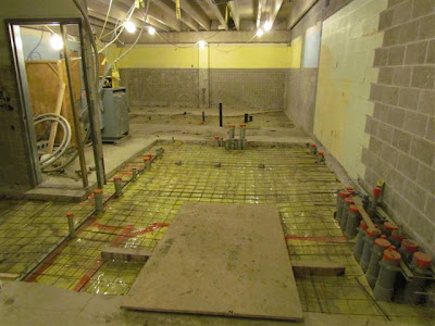 New electrical room awaiting pouring of floor