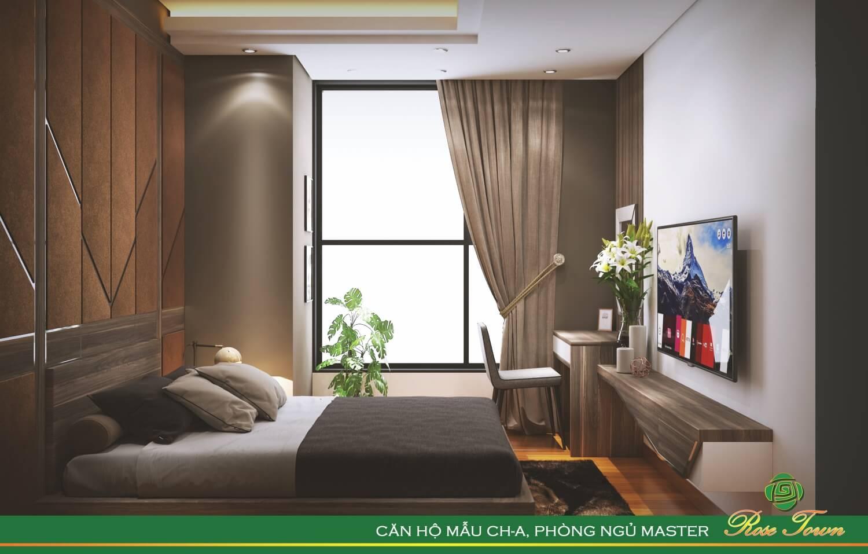 Phòng ngủ chung cư 79 Ngọc Hồi