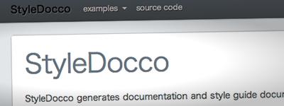 スタイルガイドを生成する「StyleDocco」の使用感