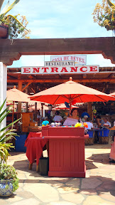 Eating lunch at Casa De Reyes, part of Fiesta De Reyes in Old Town San Diego