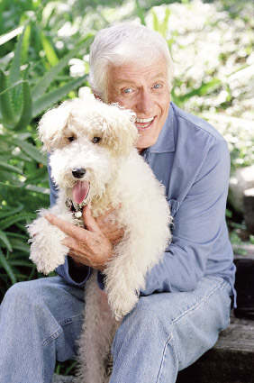 Dick Van Dyke and a small dog