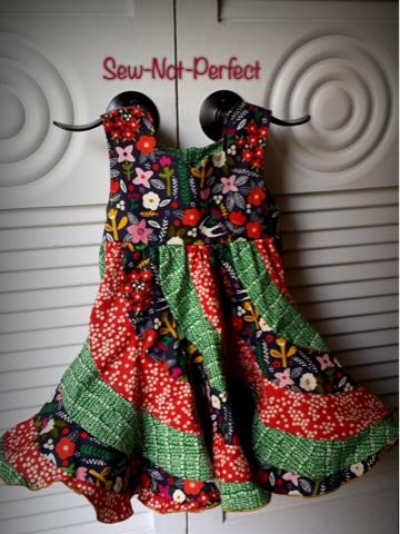 Peppermint Swirl Birthday Dress - Kids Clothes Week | Sew Not Perfect