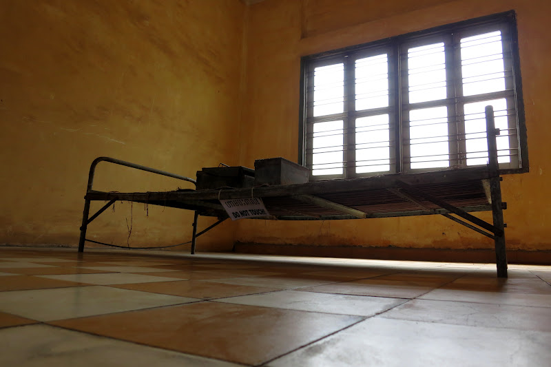 Torture bed at Tuol Sleng