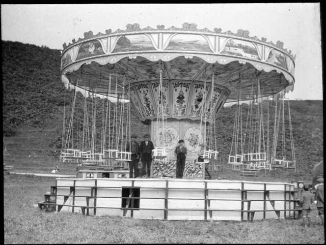 from a collection of glass slides of fairground scenes