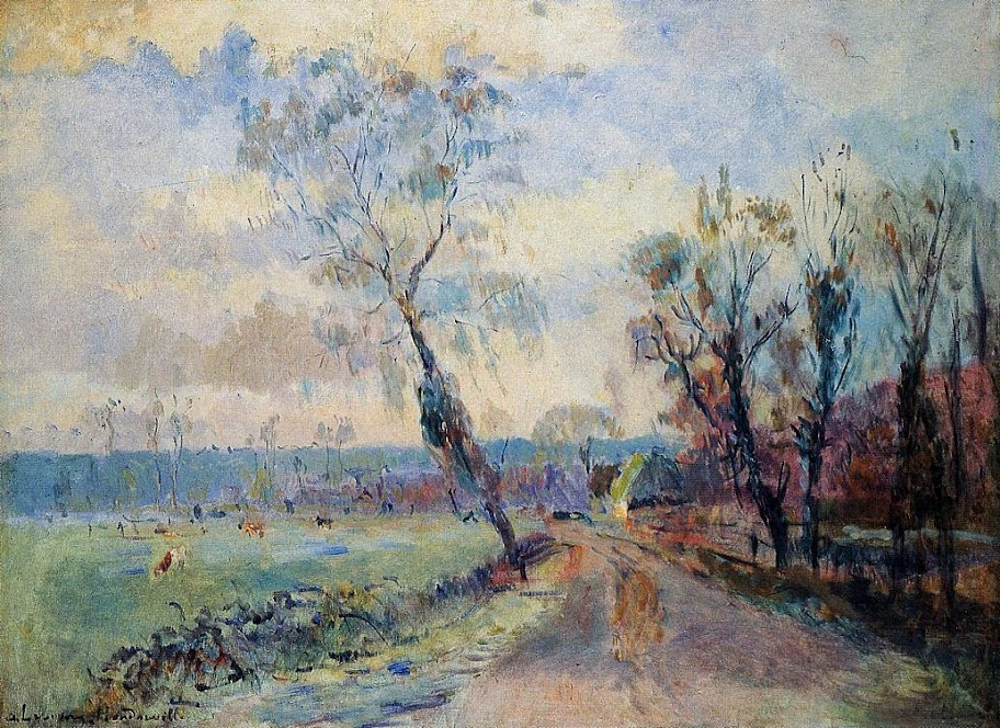 Albert Lebourg - Hondouville, an Afternoon at the End of Winter