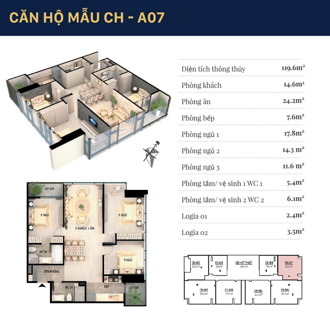 Chi tiết căn hộ 07 dự án Văn Phú Giảng Võ