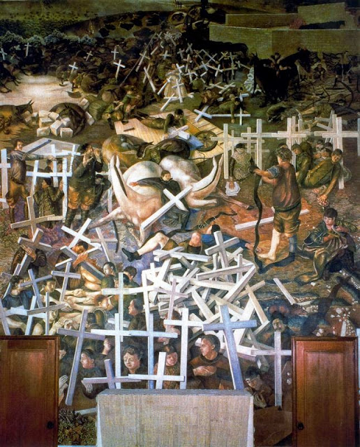 Stanley Spencer - The Resurrection of the Soldiers, 1929