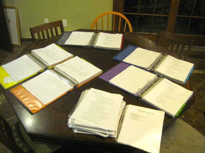 memory work binders on table