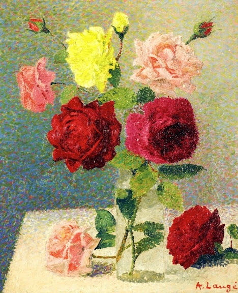 Achille Laugé - Bouquet of Roses