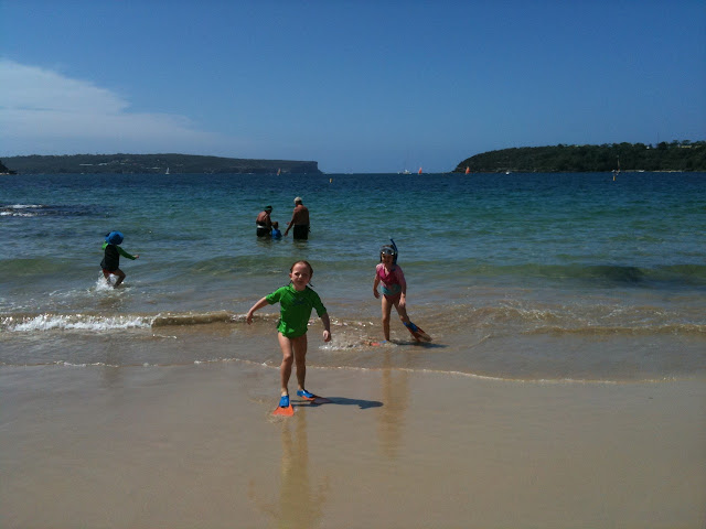 Balmoral beach kids snorkelling