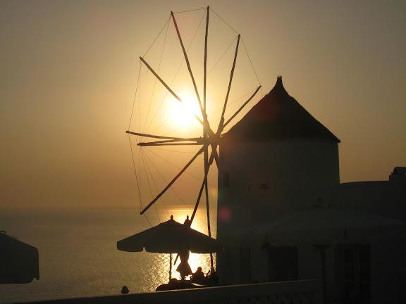 Puesta de sol en Oia, Santorini