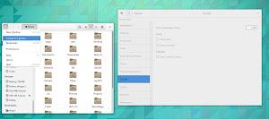 GNOME 3.12 menu pannello nell'appliazione