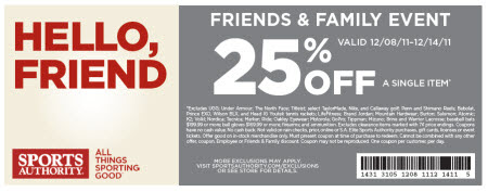 Discount 25% Off Sports Authority Coupon